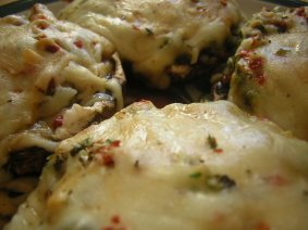 Portabella Artichoke Stuffed Mushrooms_Simply Savory